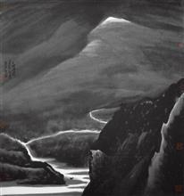 《天地浑濛》97x90cm 意象系列 纸本水墨 2014年
