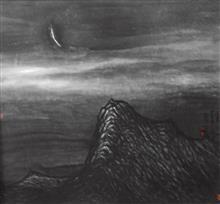 《天高月小》90x97cm 意象系列 纸本水墨 2014年