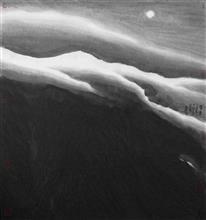 《雪月》97x90cm 意象系列 纸本水墨 2014年