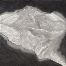 《雕琢》115x115cm 意象系列 纸本水墨 2017年
