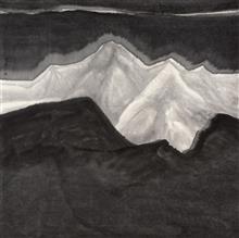 《冰洁》115x115cm 意象系列 纸本水墨 2017年