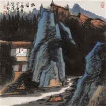 《幽居·3》68x68cm 写意山水 纸本水墨 2017年