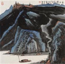 《夏山图》68x68cm 写意山水 纸本水墨 2017年