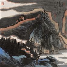 《山居·1》68x68cm 写意山水 纸本水墨 2017 年