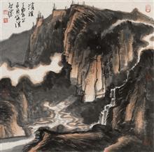 《清溪·1》68x68cm 写意山水 纸本水墨 2017年