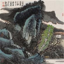 《高山隐居》68x68cm 写意山水 纸本水墨 2017年