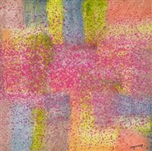 《秋》100x100cm 意象系列 纸本水墨 2016年