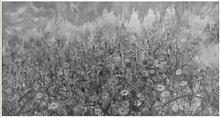 钟波《流逝的花园》180CM×97CM 宣纸水墨