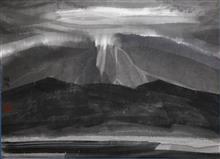 钟波 《静界》54X38cm 宣纸水墨