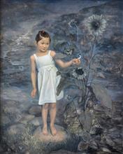 《晨溪雀鸣》120x150cm 人物 布面油画 2011年