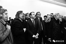 星星画会、798始创人黄锐会晤法国总统马克龙 (1)