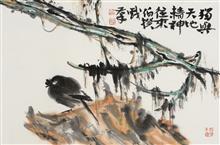 《独与天地精神往来》68x45cm 四尺三开 写意花鸟 纸本设色 2018年