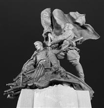 """军人光荣纪念碑""""在抗击法西斯的战斗中我们曾在一起"""""""