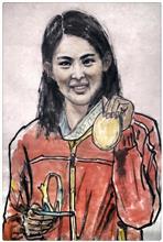 《肖像画》纸本设色 人物 (6)