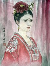 《肖像画》纸本设色 人物 (4)