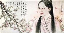 《三生三世十里桃花》古装人物肖像 纸本水墨设色 2017年