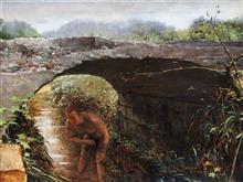 《桥下》60x80cm 油彩 亚麻布 2012年8月