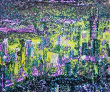 《倾城夜语NO5》100×120cm 宣纸 水墨 丙烯 2011年