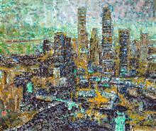 《倾城夜语NO3》100×120cm 宣纸 水墨 丙烯 2011年