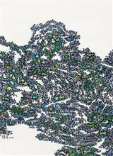 《都市山水NO3》110×80cm 宣纸 水墨 丙烯 2014年