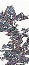 《古典今事NO.1》180×80cm 宣纸 水墨 丙烯 2014年