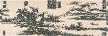 《时令景观-树色平远图》210×50cm 宣纸 水墨 丙烯 2015年