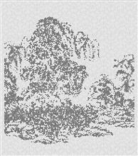 气泡膜系列《3648克山水》180×150cm 墨 水 气泡膜 2017年
