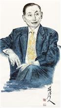 《京剧演员、国家一级演员 梅葆玖先生》纸本水墨设色 人物肖像