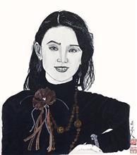 《齐白石孙女齐慧娟女士》纸本水墨设色 人物肖像