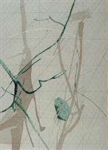 《水衣No.9》,紙漿 、併用版,90x70cm,2016