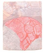 《水痕水衣No.1-1》,絹版、凹版,33×26cm,2011