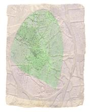 《水痕水衣No.2-1》,絹版、凹版,25×18cm,2011