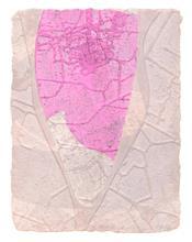 《水痕水衣No.2-3》,絹版、凹版,25×18cm,2011