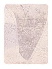 《水痕草衣No.2-1》,絹版、凹版,25×18cm,2011