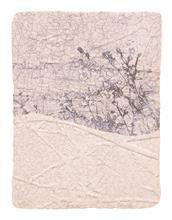 《水痕草衣No.2-5》,絹版、凹版,25×18cm,2011