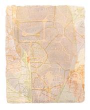 《水痕雲朵No.1-5》,絹版、凹版,33×26cm,2011