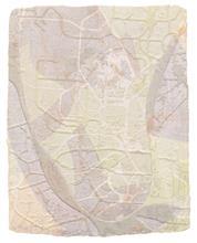 《水痕雲朵No.1-4》,絹版、凹版,33×26cm,2011