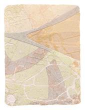 《水痕雲朵No.2-3》,絹版、凹版,25×18cm,2011