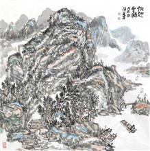 帆翅云鹏(69x69cm)戊戌秋  陈安明2018年创作