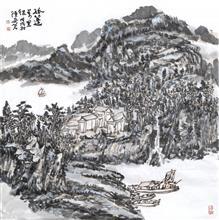 孤蓬万里征(69x69cm)戊戌秋  陈安明2018年创作