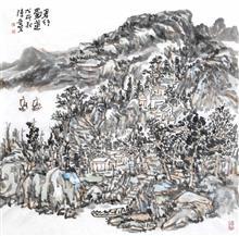 君行蜀道(69x69cm)戊戌秋  陈安明2018年创作