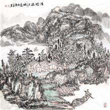 清辉满江城(69x69cm)戊戌秋  陈安明2018年创作