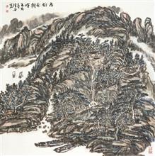 高树影朝晖(69x69cm)己亥春 陈安明2019年创作