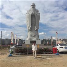 云南曲靖文庙孔子雕像