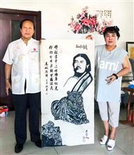 与中国诗书画院院长马牧先生