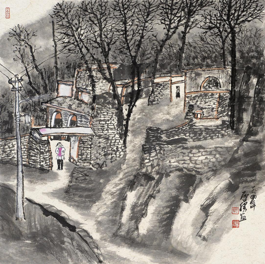 《老窑系列·4》68x68cm 写意系列 纸本水墨 2016年