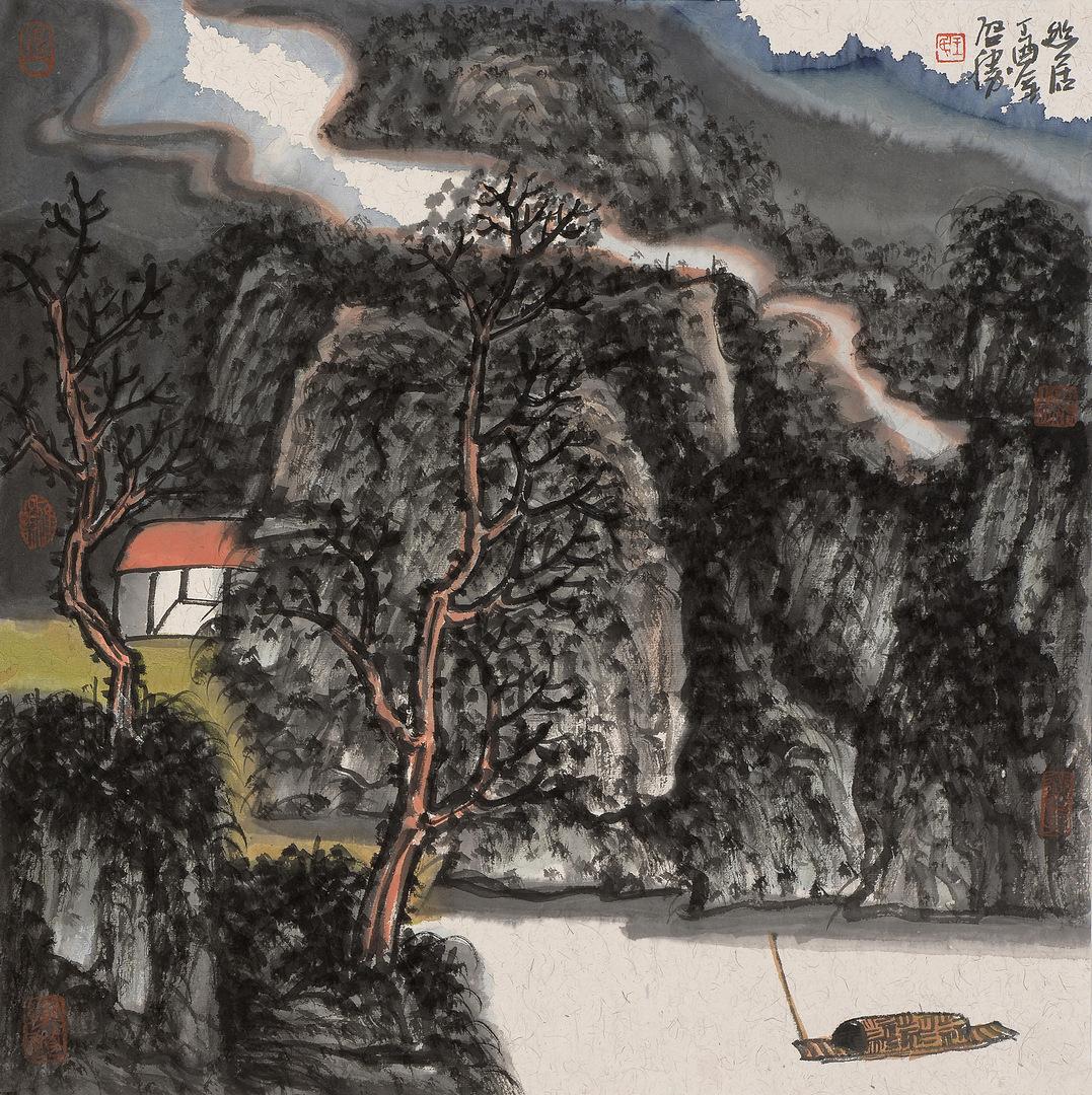 《幽居·2》68x68cm 写意山水 纸本水墨 2017年