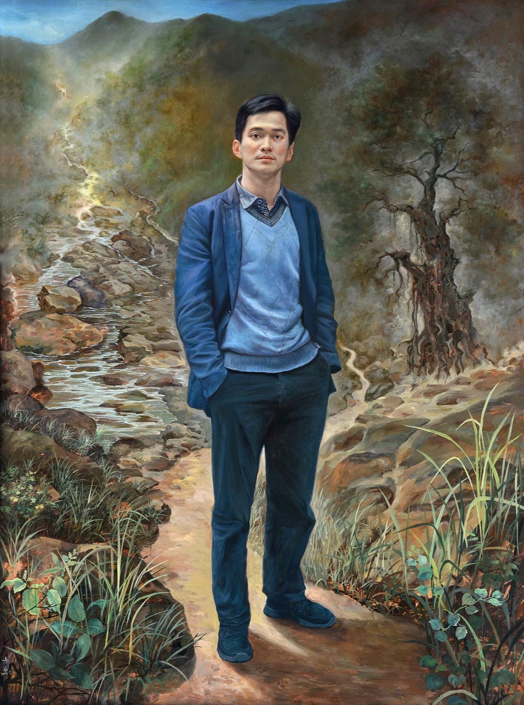 《菩提路上》90x120cm 人物 布面油画 2012年