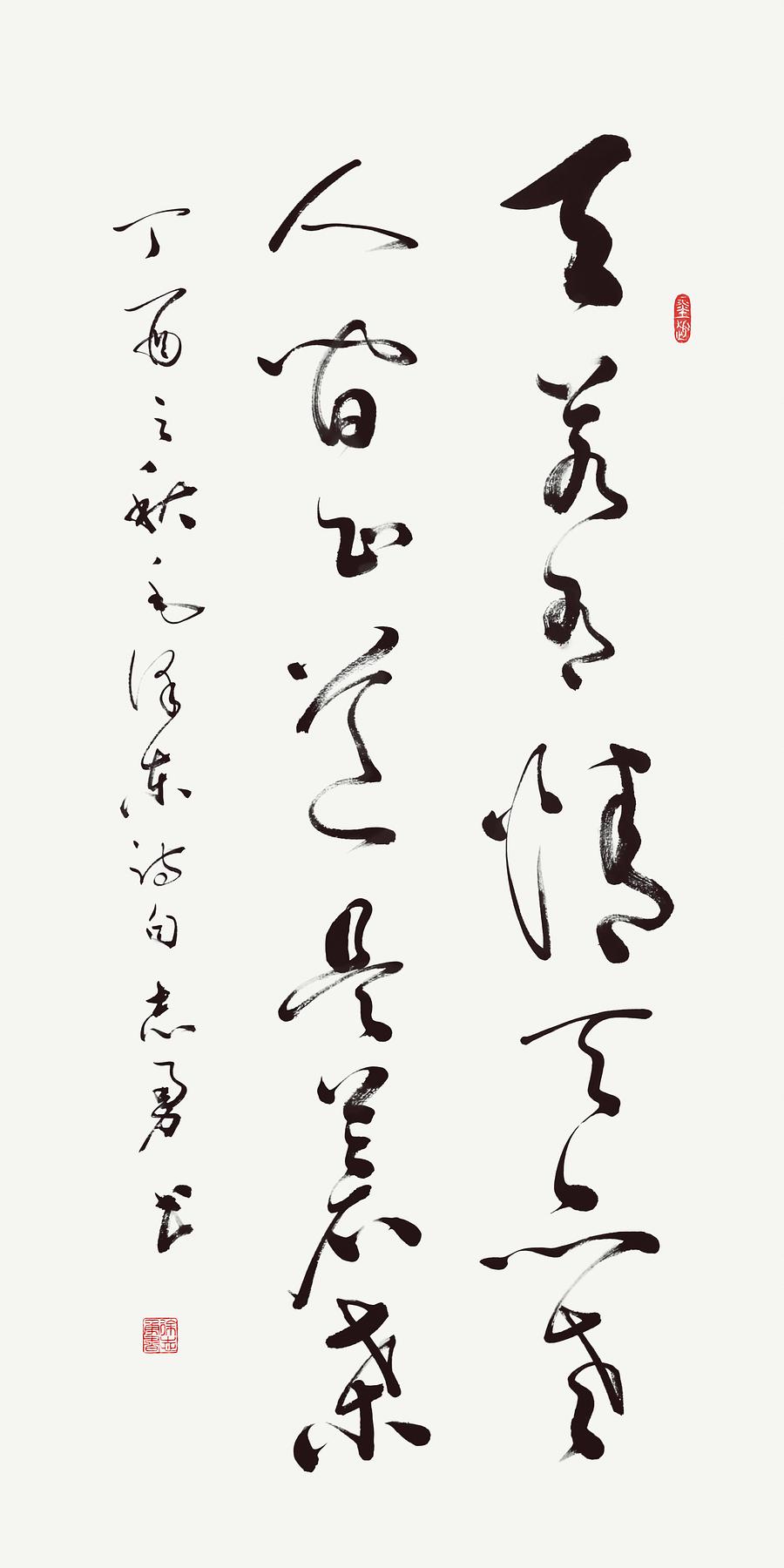 毛泽东《七律·人民解放军占领南京》草书 纸本墨笔 2017年