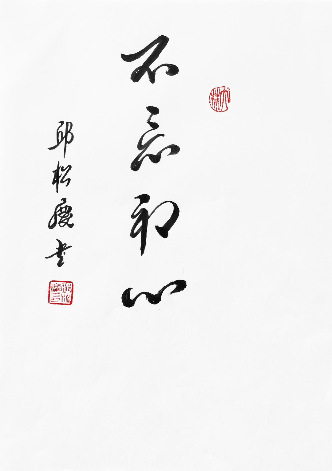 《不忘初心》29.7x21cm 行书 纸本墨笔 2018年